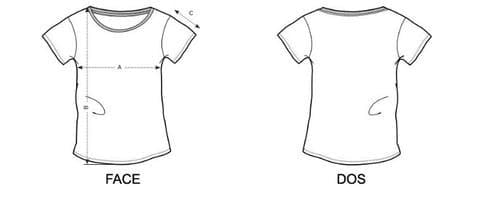 guide tailles tshirt