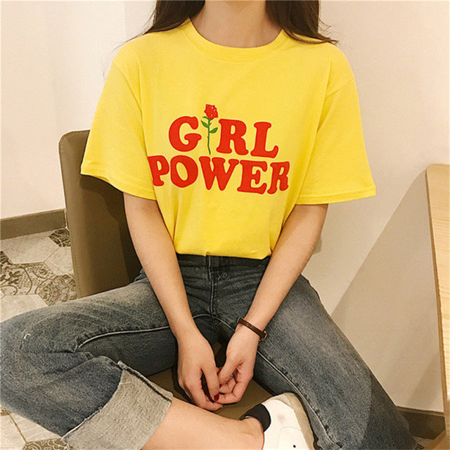 'Girl Power' T-Shirt Color