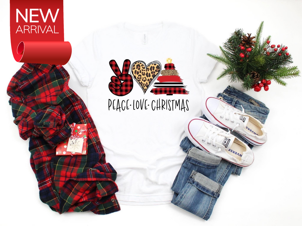 Peace Love Christmas T-shirt