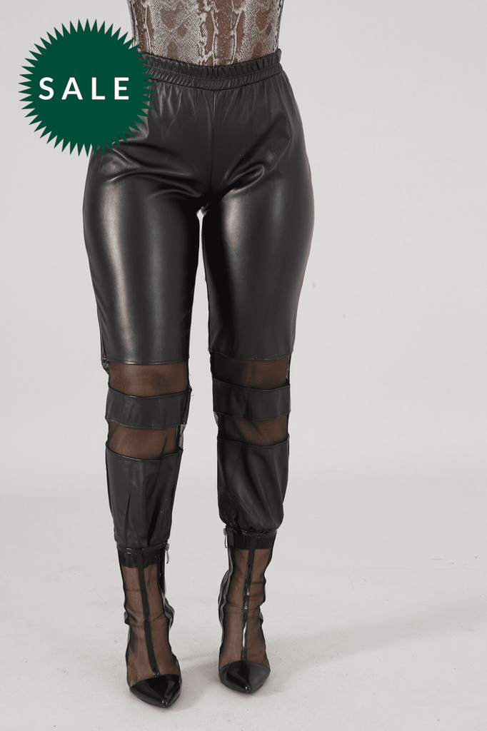 Tina Leatherette Pants