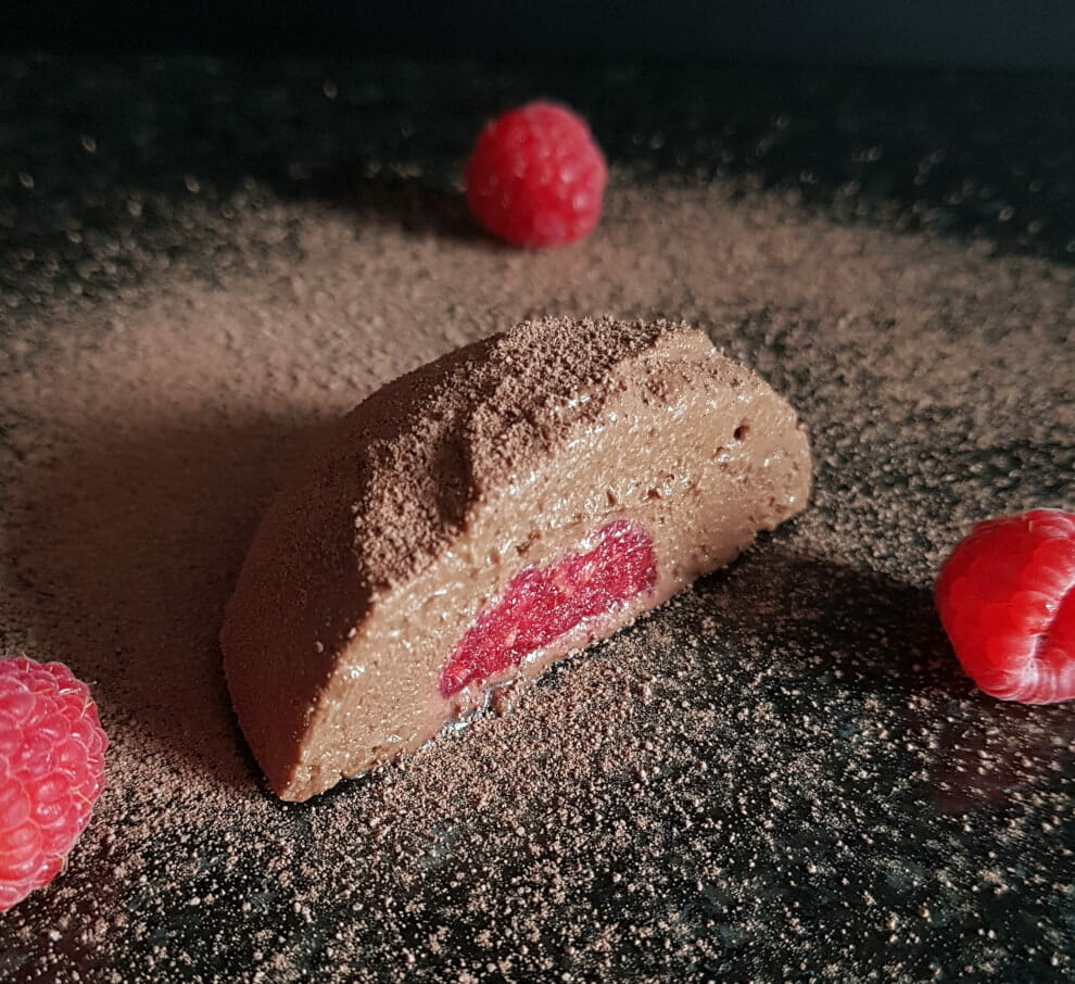 frozen chocolate raspberry mousse