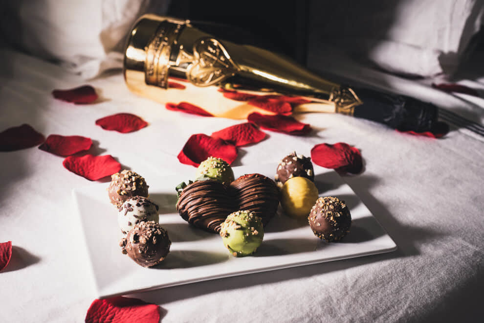 chocolate covered treats on a platter | To'ak Chocolate