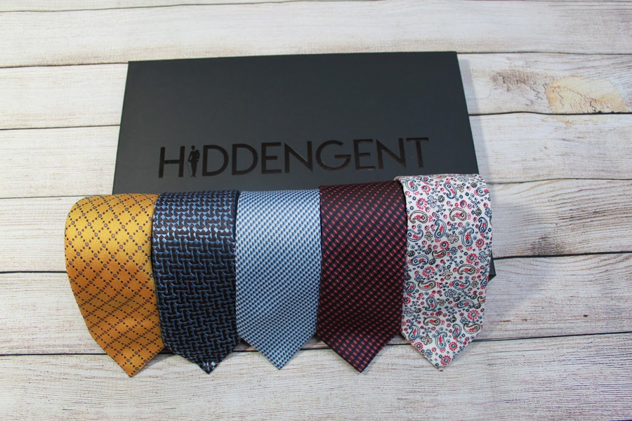 Luxury 5 Piece Tie Box