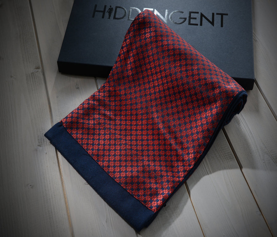 Red Square Foulard Scarf