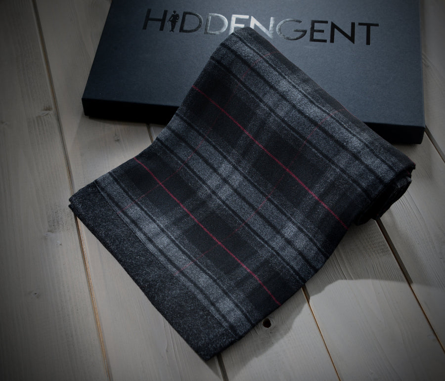 Black Checked Scarf