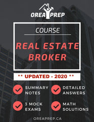 OREA Course: Real Estate Broker - Study Guide - OREA PREP
