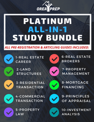 OREA Real Estate Platinum Study & Save Bundle (Includes ALL 2020 OREA Courses/ Study Guides)
