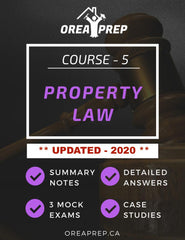 2020 OREA Course Real Property Law Study Guide - OREA PREP