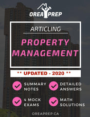 OREA Course - Articling - Principles of Property Management - OREA PREP