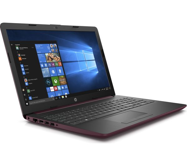 "HP 15"" Laptop Maroon Burgandy"