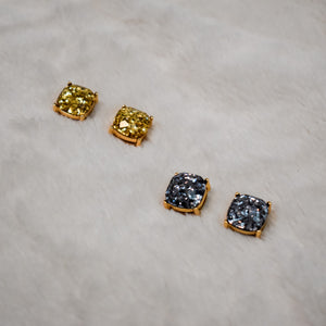Gold Sparkle Studs