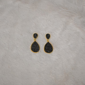 Teardrop Dangles in Charcoal