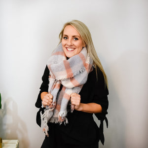Pink & Gray Scarf