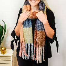 Tan & Blue Scarf