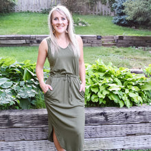 Hannah Dress in Olive