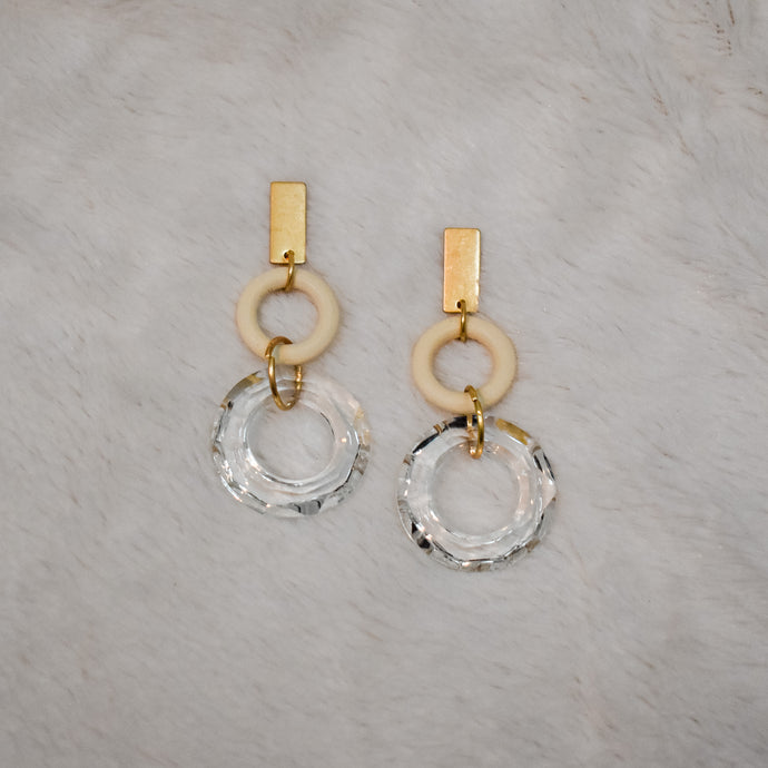 Zen Earrings in Ivory