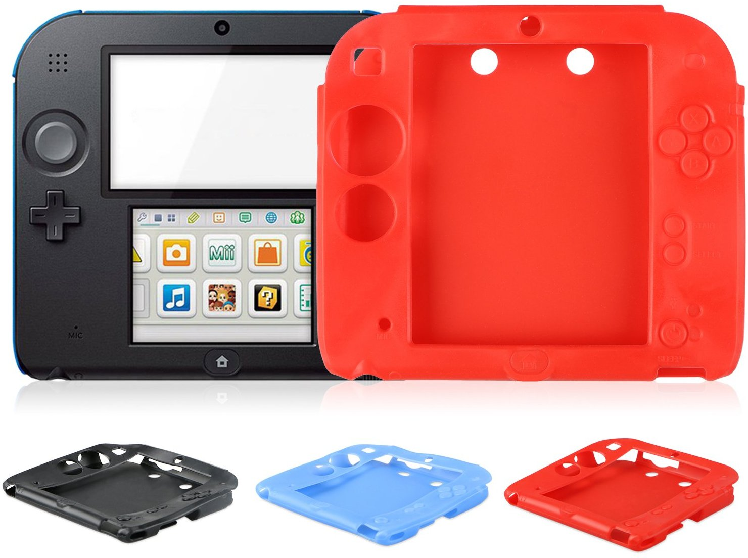 watch 61353 94e65 Silicone Rubber Gel Skin Case Cover for Nintendo 2DS
