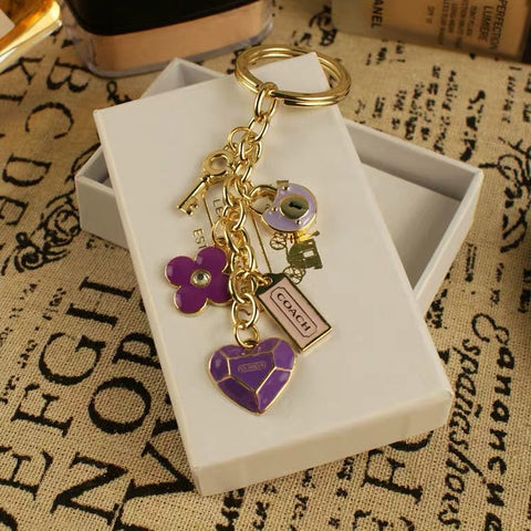 Purple Lock & Key Designer Keychain - It's From The Shop