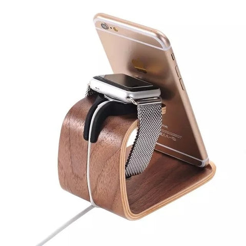 Bent Polywood Apple Watch Charger / Holder - It's From The Shop