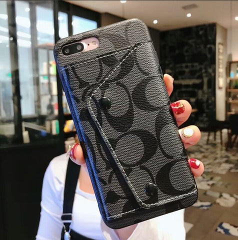Designer Fashion Leather Wallet iPhone Cases - It's From The Shop
