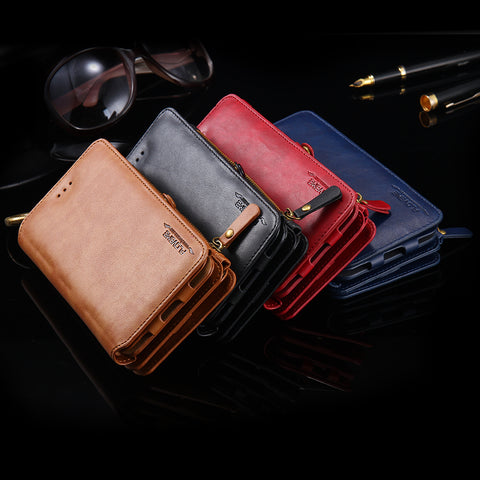 Luxury Deluxe Leather Wallet Case For Apple iPhone - It's From The Shop