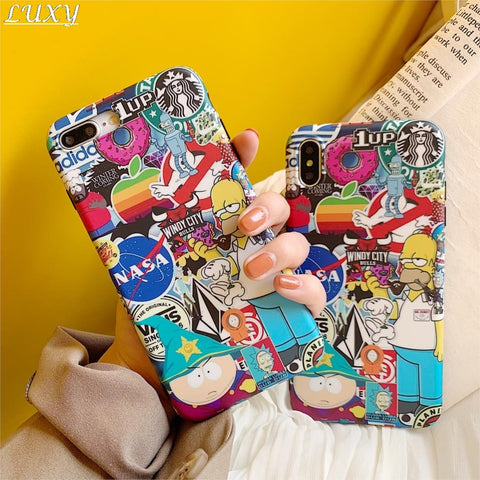 Crazy Cartoon Collage iPhone Case - It's From The Shop