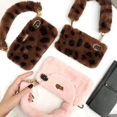 Luxury Fur Wallet Case With Strap For iPhone (Available In X XR XS MAX) - It's From The Shop