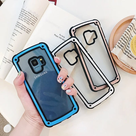 Stylish Shockproof Transparent Case For Samsung Galaxy S9 S8 Note 9 - It's From The Shop