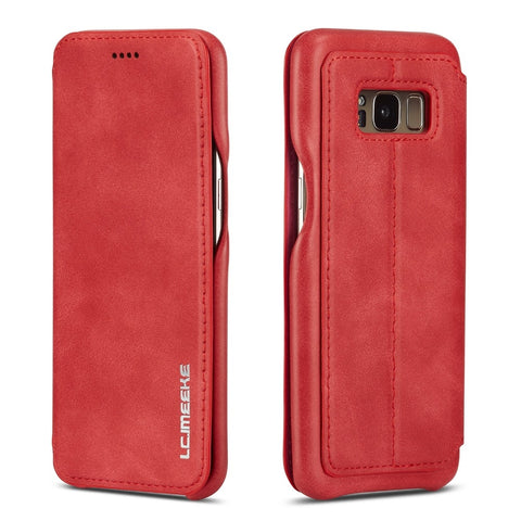 Luxury Leather Flip Case For Samsung Galaxy Smartphones (6 Colors) - It's From The Shop