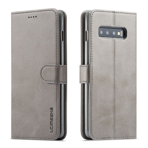 Leather Flip Wallet Case For Samsung Galaxy S10 (5 Colors) - It's From The Shop