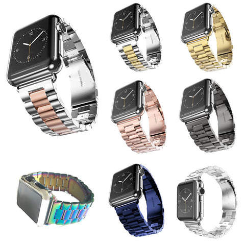 Stainless Steel Watch Band for Apple Watch Series 1 2 3 (38mm 42mm With Adapters) - It's From The Shop