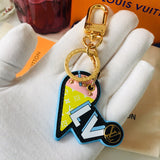 Designer Ice Cream Cone Metal Keychain - It's From The Shop