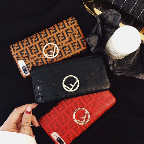 Luxury Fashion Fendi Wallet iPhone Case - It's From The Shop