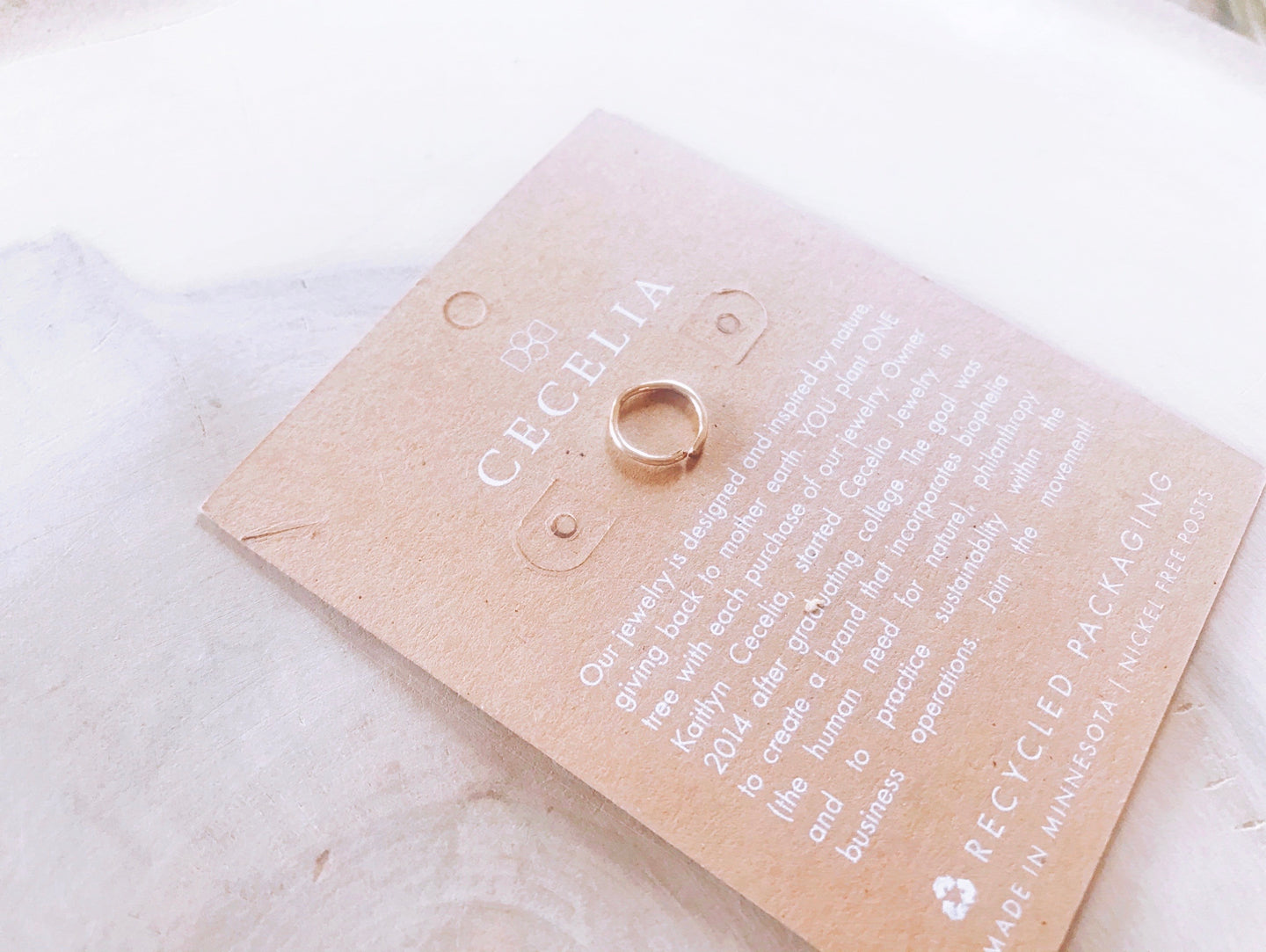 Cecelia Nose Ring in 12k Gold