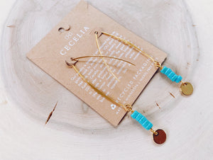 SJA56 Turquoise Howlite Sami Drop Earrings