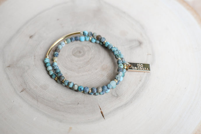 Turquoise Double Wrap