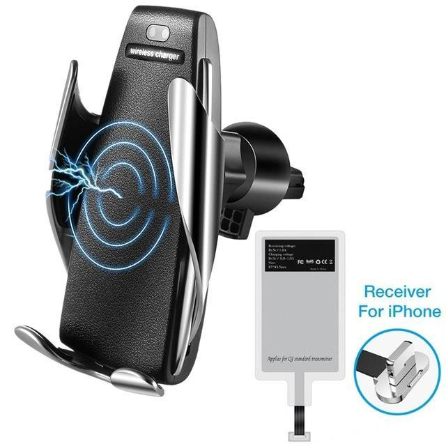 S5 Wireless Charging Car Phone Mount with 10W Qi Quick