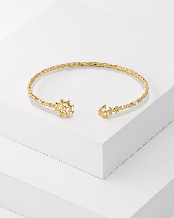 Dana Twisted Anchor Cuff Bracelet