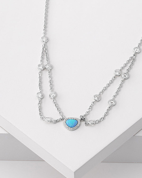Kara Silver Necklace