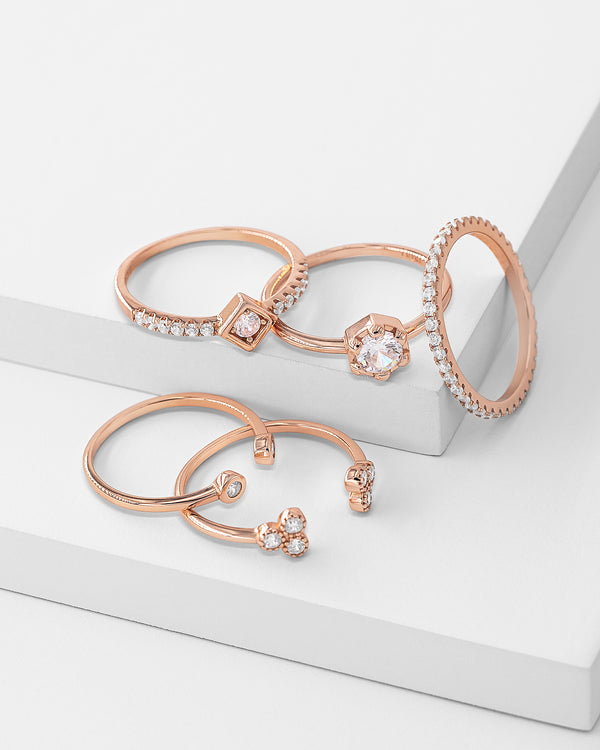 Rosa Stackable Ring Set