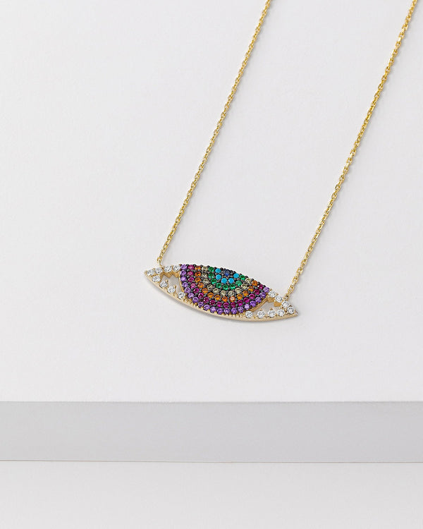 Venus Rainbow Evil Eye Necklace