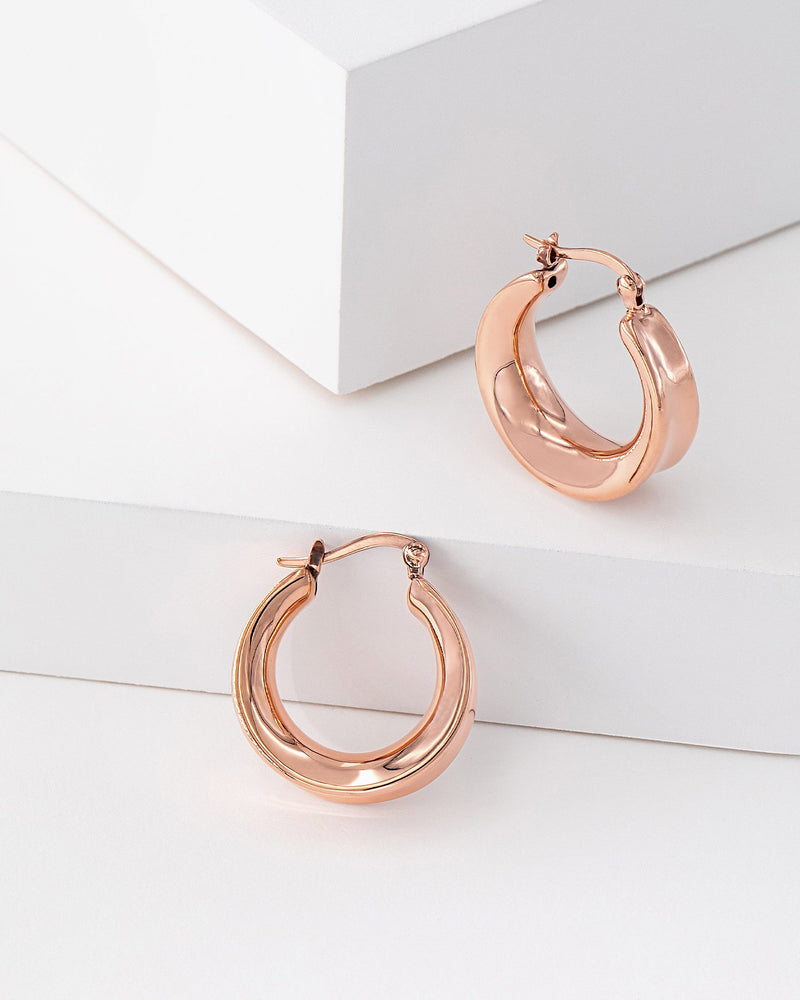 Kimberly Hoop Rose Gold Earrings