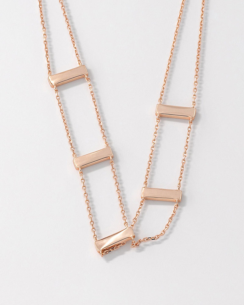 Lena Bar Necklace, Sterling Silver