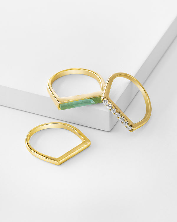 Juno Bar Stackable Ring Set