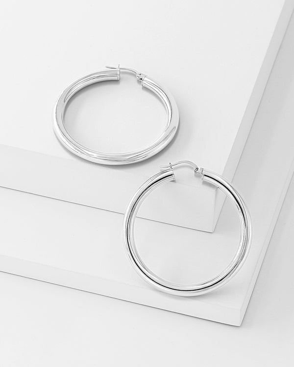 Nova Hoop Earrings, Sterling Silver
