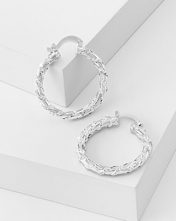 Maria Twisted Hoop Earrings