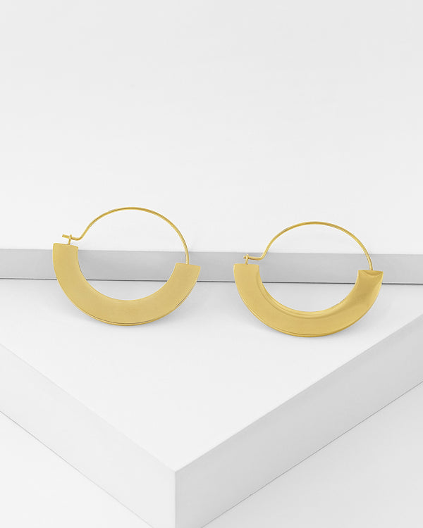 Naomi Hoop Earrings, Stainless Steel