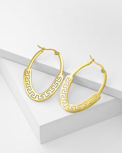 Mya Hoop Earrings, Stainless Steel, Gold