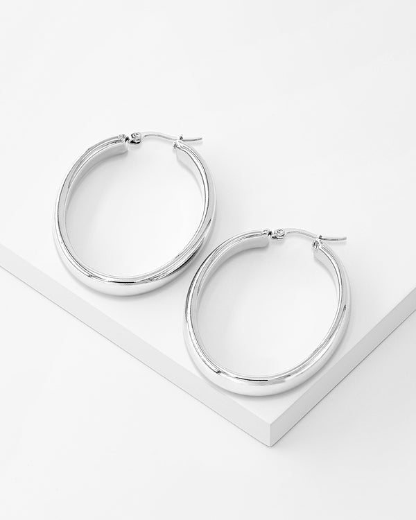 Brooke-Hoop-Earrings, Stainless Steel