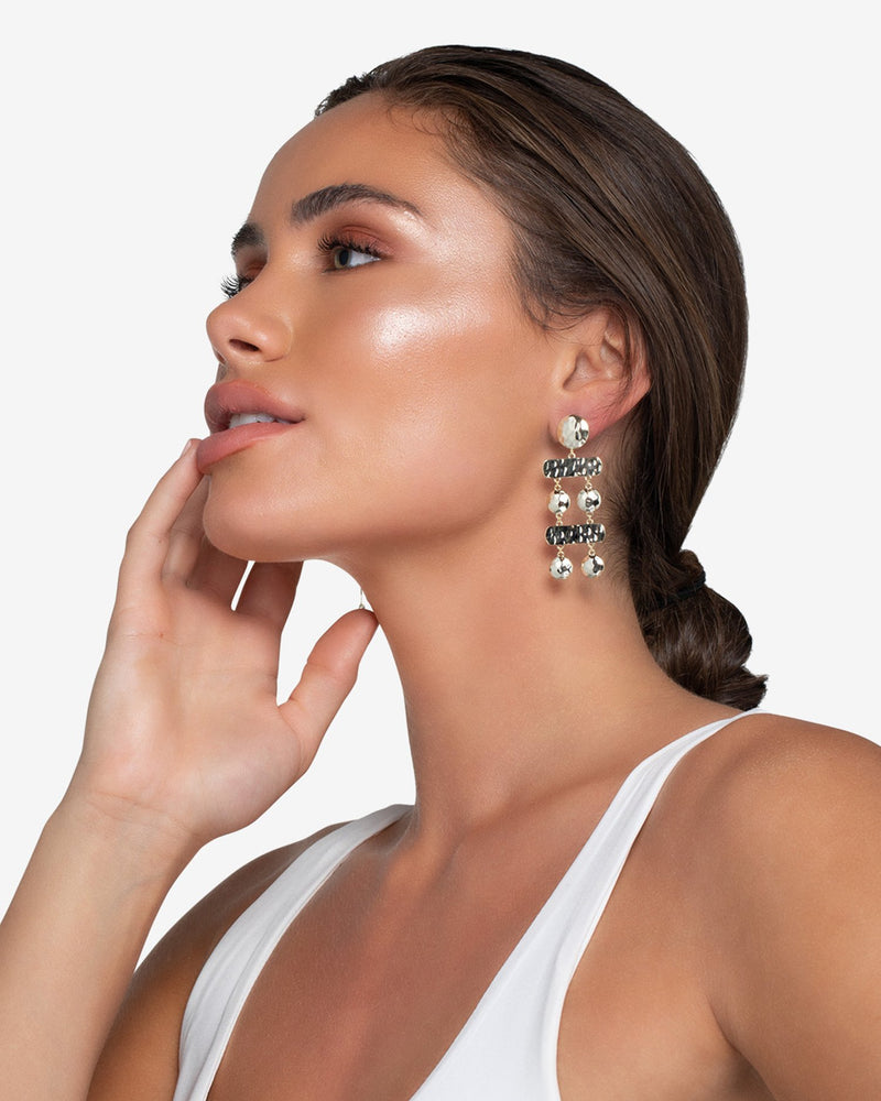 Khloe Hammered Drop Earrings